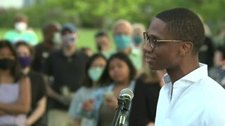 People gather to protest at Shaker Heights
