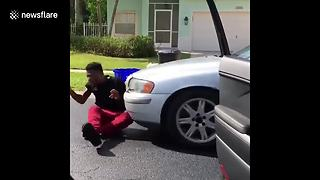 Guy Performing The Kiki Challenge Gets Hit By A Car - Video