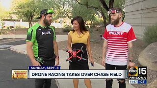 Drone racing takes over Chase Field this weekend!