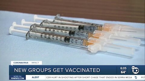New groups of San Diegans to get vaccinated