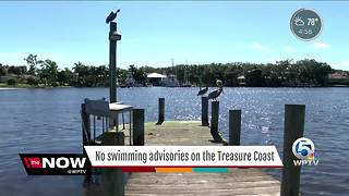 No swimming advisory on Treasure Coast - Video