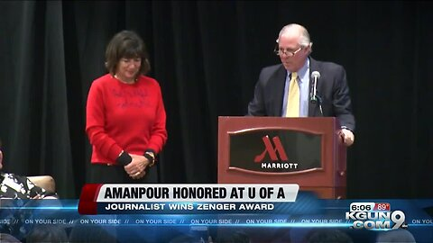 UA honors journalist Christiane Amanpour with 2019 Zenger Award for Press Freedom