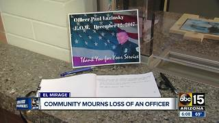 Community mourning El Mirage officer who died on duty - Video