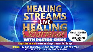 STARTS TOMORROW!! Healing Streams Healing Services with Pastor Chris