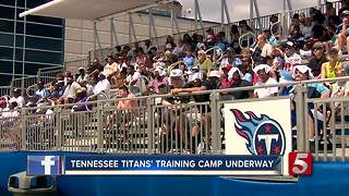 Fans Enjoy Watching Titans Training Camp - Video