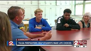 Tulsa fire fighters help students make life choices - Video