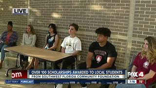 Southwest Florida Community Foundation awards 135 scholarships to local students - 7am live report - Video