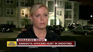 Two Sarasota police officers injured in officer-involved shooting at apartment complex - Video