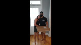 Teen Surprises Childhood Best Friend While Disguised As FedEx Driver - Street View