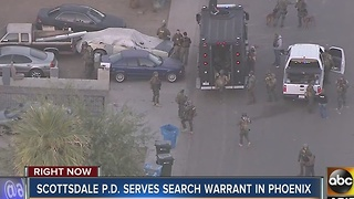 Scottsdale police serves search warrant in Phoenix - Video