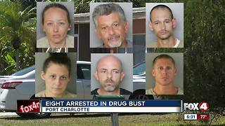 SWAT raid yields 8 arrests on drug charges in Port Charlotte - Video