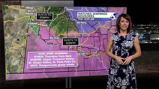 Blustery, cold winds will howl across southwest Idaho on Thursday - Video