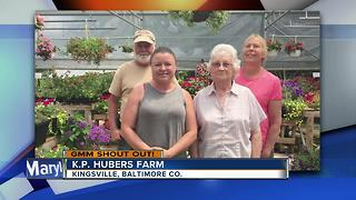 K.P. Hubers Farm in Kingsville give a Good Morning Maryland shout out - Video