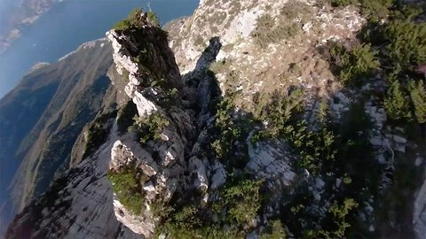 Is it a bird? Is it a plane? Human soars through the mountains!