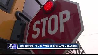 Police, bus drivers warn of stop-arm violations - Video