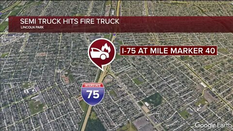Two firefighters injured in accident with semi-truck
