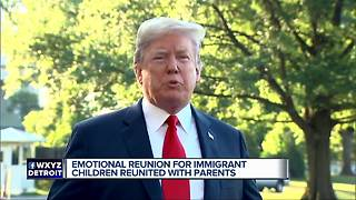 7 children reunited with parents in Michigan in Immigration Crisis - Video