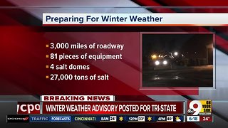 Winter Weather Advisory issued for tomorrow - Video
