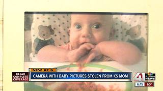 Kansas mom pleas for return of stolen photos of newborn who died - Video