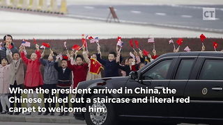 China Rolls Red Carpet For Trump - Video