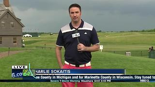 Severe weather forces golfers, fans off U.S. Open course - Video