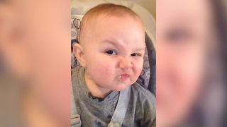 Watch As This Toddler Shows Off His Mad Face - Video