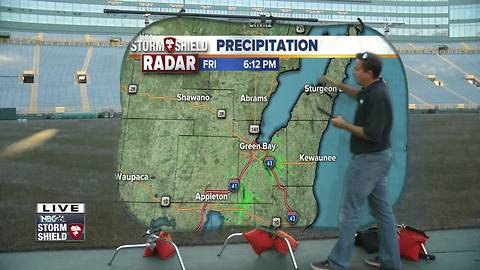 Cameron's Weather Roadshow at Lambeau Field for Packers vs. Bengals