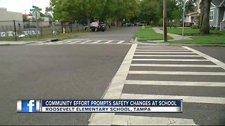 South Tampa neighborhood gets new crosswalk - Video