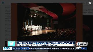 34 new police officers in Las Vegas - Video