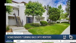 Homeowners temporarily turning back into renters