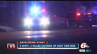 Two shot and killed, three wounded outside bar on Indianapolis' east side - Video