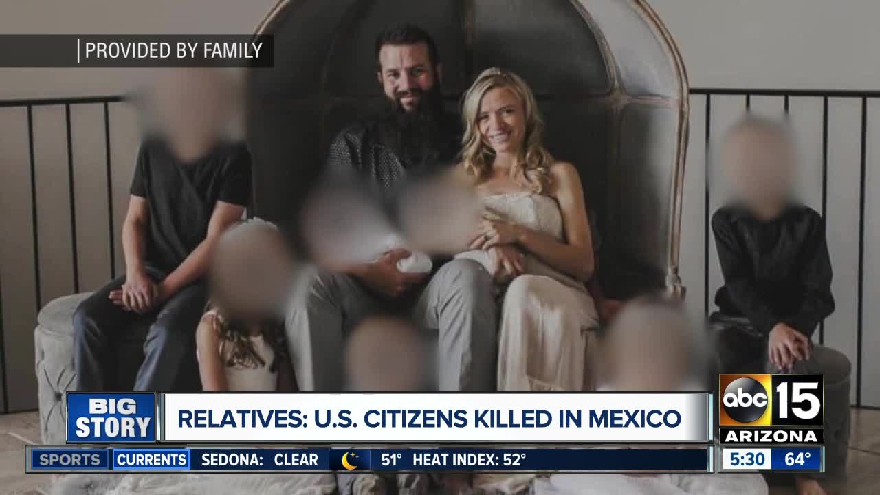 Family says relatives were killed in Mexico attack