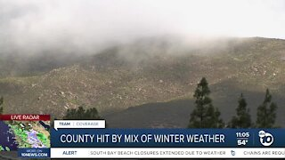 San Diego County hit by mix of winter weather