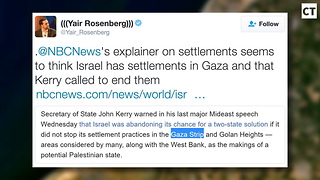 FAKE NEWS: NBC Falsely Claims Israel Still Has Settlements in Gaza - Video
