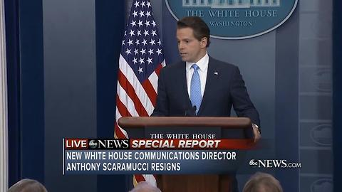 White House Communications Director Anthony Scaramucci resigns