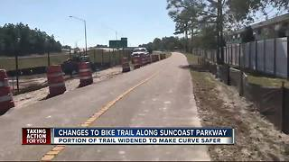 Dangerous curve on Suncoast Trail is being fixed - Video