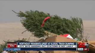 Illegal dumping concerns near Bakersfield homes - Video