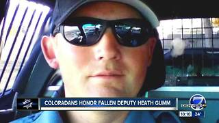 Coloradans honor fallen Adams County Deputy Heath Gumm - Video
