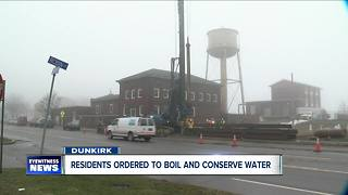 Dunkirk under a boil water advisory