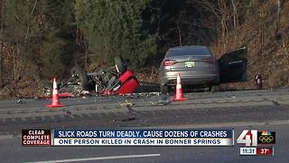 Slick roads turned deadly, caused dozens of crashes - Video