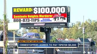 Crime Stoppers agrees to pay tipster $5,000 - Video