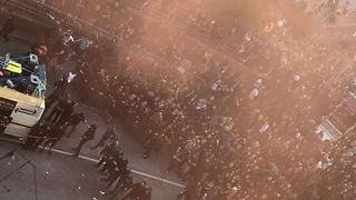 Protestors Hurl Objects at Riot Police During G20 Demonstrations in Hamburg - Video