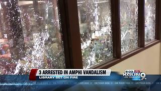 Arrests made after multiple Amphitheater schools vandalized - Video
