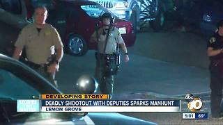 Deadly shootout with deputies sparks manhunt - Video