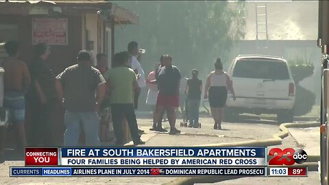 Fire at South Bakersfield apartments leave families displaced