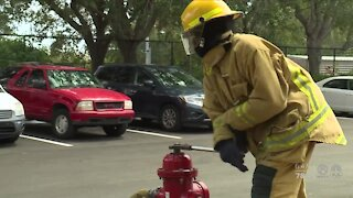 Palm Beach County students train to be firefighters, first responders
