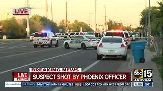 Suspect shot by police in Phoenix - Video