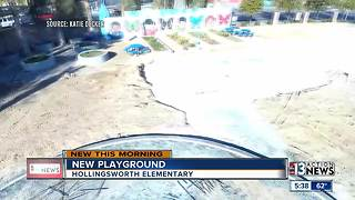 Downtown elementary school receives new playground - Video