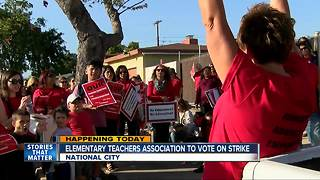 National City elementary school teachers to hold strike vote Monday - Video