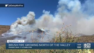Bumble Bee Fire burns north of the Valley